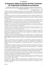 150727 EC EFE El Supremo ratifica anulación del Plan Territorial de Tratamiento de Residuos de Asturias
