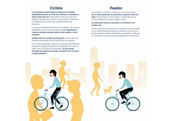 Nos mueve el respeto (Asturies ConBici y Ayuntamiento de Oviedo)